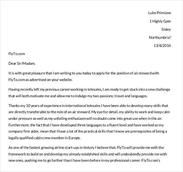 Simple Cover Letter Template - 36+ Free Sample, Example, Format - cover letter career change