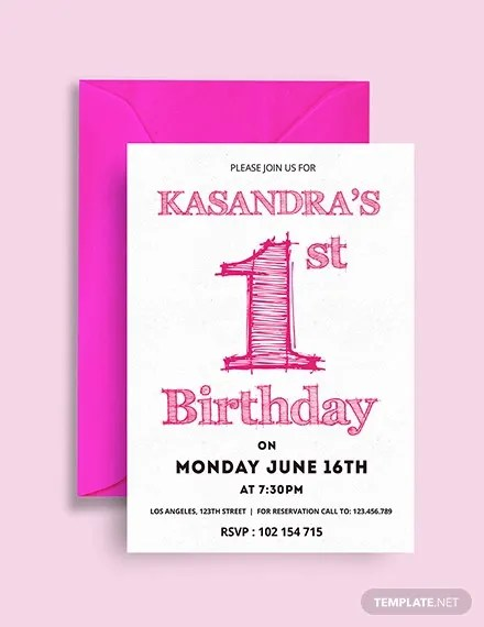 49+ Birthday Invitation Templates - PSD, AI, Word Free  Premium
