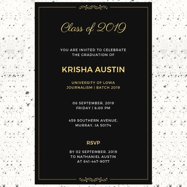 27+ Graduation Invitation Templates \u2013 Free Sample, Example, Format