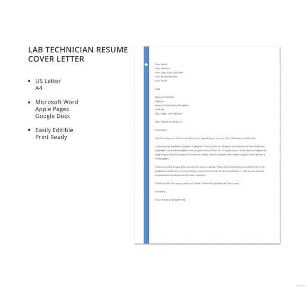 19+ Free Cover Letter Templates \u2013 Free Sample, Example, Format