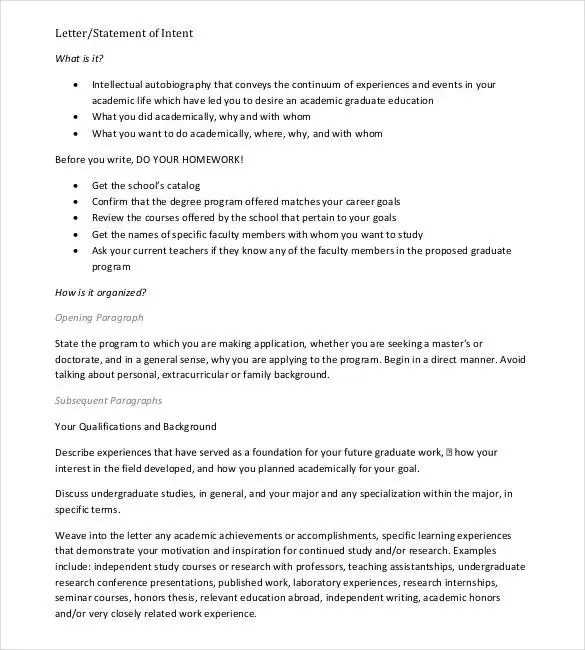 31+ Letter of Intent for a Job Templates - PDF, DOC Free  Premium