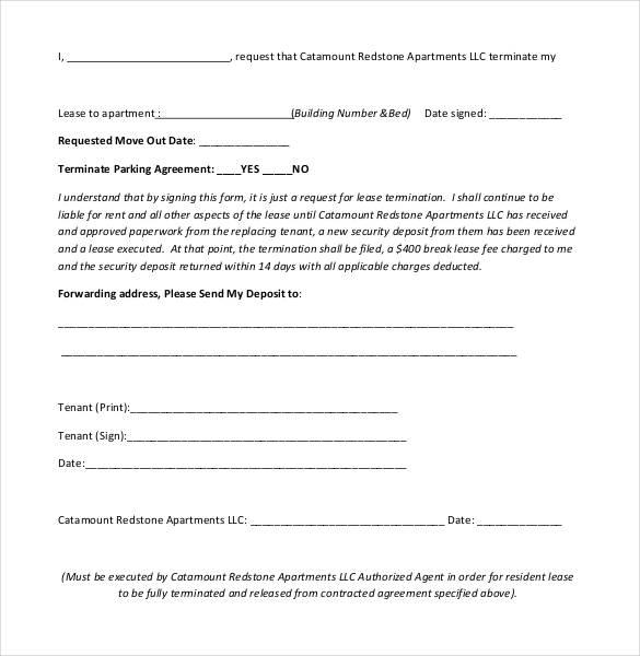 22+ Lease Termination Letter Templates - PDF, DOC Free  Premium