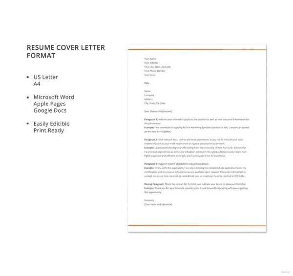 51+ Simple Cover Letter Templates - PDF, DOC Free  Premium Templates - simple cover letters for resume
