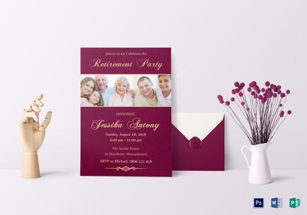 16+ Retirement Invitation Templates \u2013 Free Sample, Example, Format
