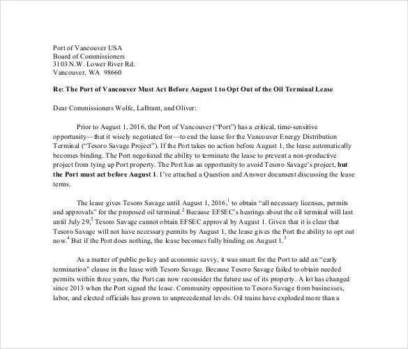 Lease Termination Letter Templates - 18+ Free Sample, Example - lease termination letter example
