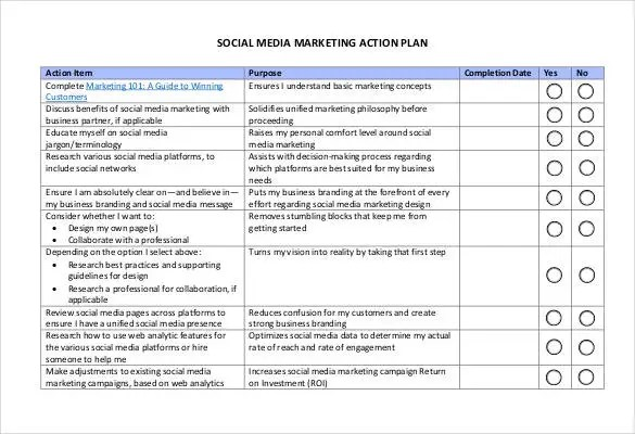 Action Plan Template - 110+ Free Word, Excel, PDF Documents Free - marketing action plan template