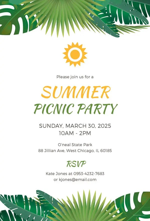 Picnic Invitation Template - 26+ Sample, Example, Format Download