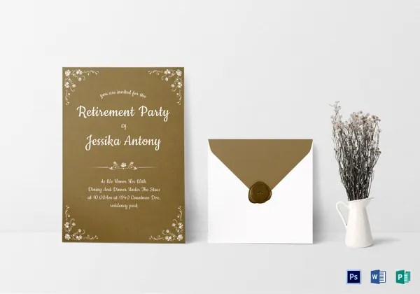 16+ Retirement Invitation Templates \u2013 Free Sample, Example, Format