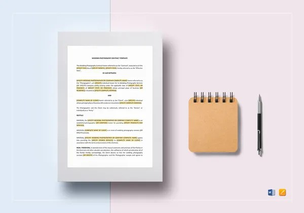 Photography Contract Example -11+ Free Word, PDF Documents Download