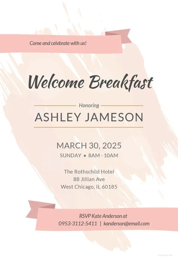 Invitation Templates 618 Free Sample Example Format
