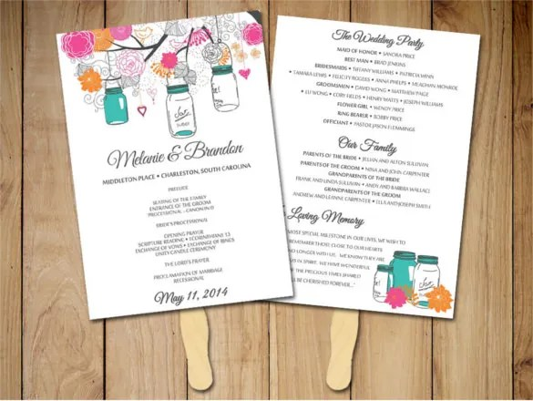 wedding program brochure template - Koranayodhya