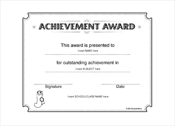 Award Templates \u2013 10+ Free, Word, PDF Documents Download! Free - Award Certificate Template Microsoft Word