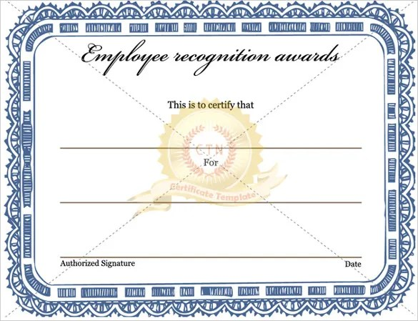 Award Templates \u2013 10+ Free, Word, PDF Documents Download! Free - employee recognition certificate template