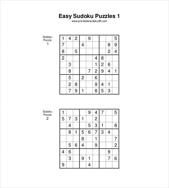 7+ Printable Sudoku Templates - DOC, Excel, PDF Free  Premium