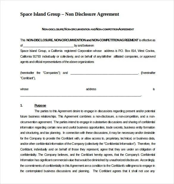 8+ Non Compete Agreement Templates - DOC, PDF Free  Premium Templates