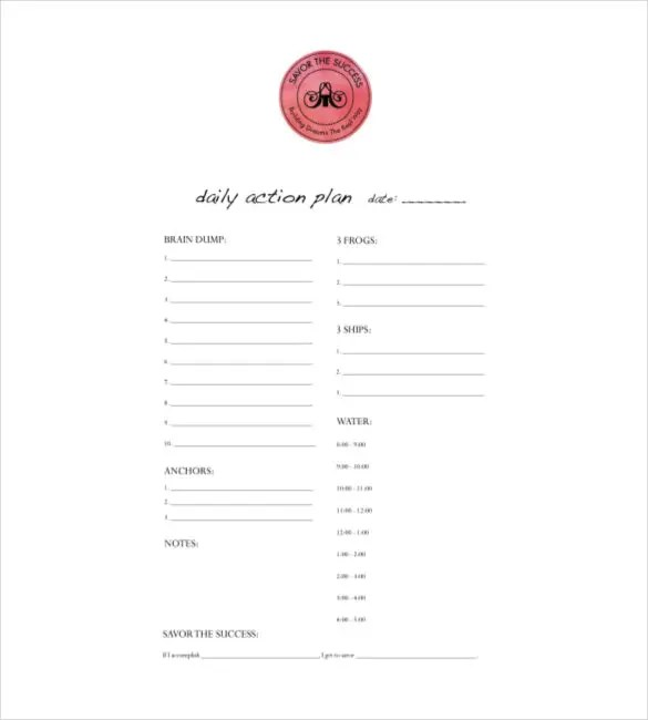 daily planner excel template - Alannoscrapleftbehind - downloadable daily planner