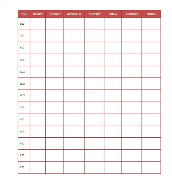 29+ Daily Planner Templates - PDF, DOC Free  Premium Templates - planner format