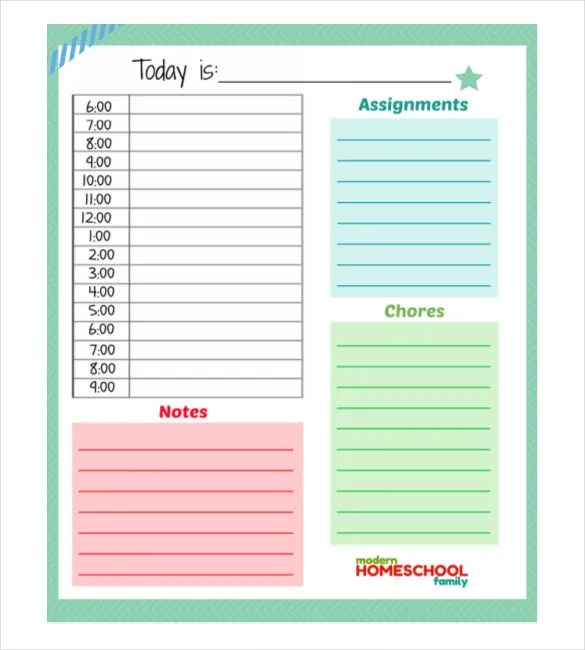 Daily Planner Template - 29+ Free Word, Excel, PDF Document Free - daily planning template