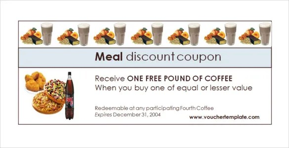 meal voucher template - Onwebioinnovate - Lunch Voucher Template