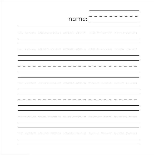 printable lined paper for kindergarten - Towerssconstruction