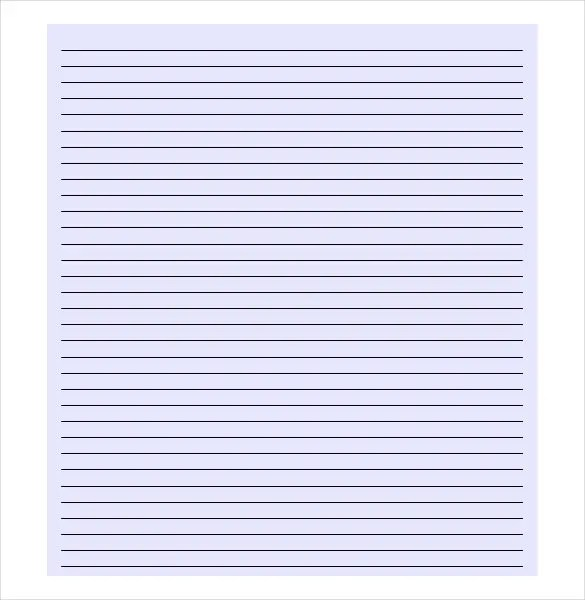Lined Paper Template - 12+ Free Word, Excel, PDF Documents Download - blank lined page