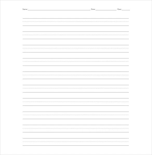 Lined Paper Template - 12+ Free Word, Excel, PDF Documents Download - Lined Paper To Write On
