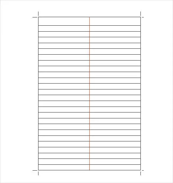 Lined Paper Template - 12+ Free Word, Excel, PDF Documents Download - lined stationery paper