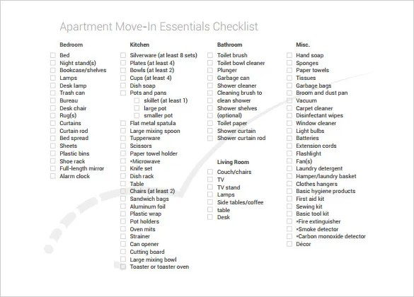 House Moving Checklist Excel Template House Moving - moving checklist template