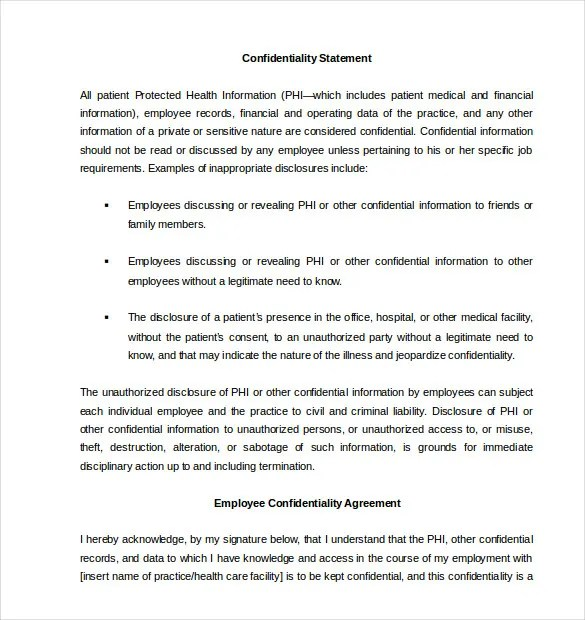 Confidentiality Agreement Template \u2013 15+ Free Word, Excel, PDF - standard confidentiality agreement