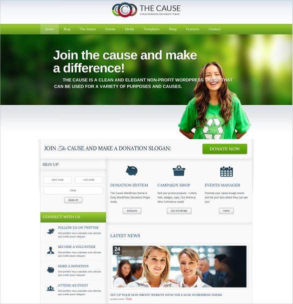 34+ Non Profit Website Themes  Templates Free  Premium Templates