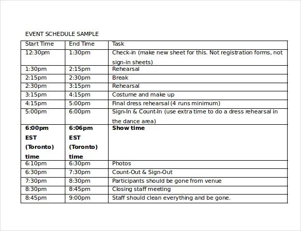Timetable Templates u2013 14+ Free Word, PDF, Documents Download - event timetable template