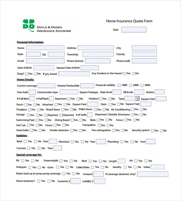 Quotation Template u2013 6+ Free Word, Excel, PDF Documents Download - free quote form template