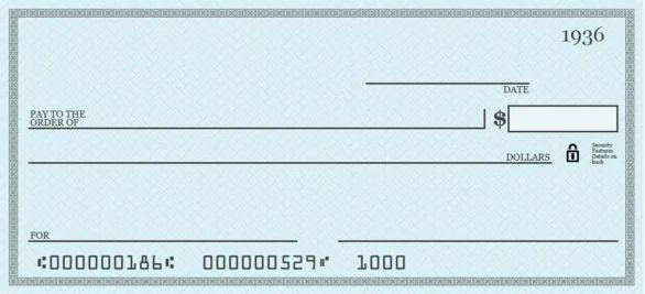 pretend cheque