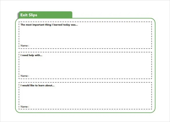 Slip Template \u2013 13+ Free Word, Excel, PDF Documents Download! Free