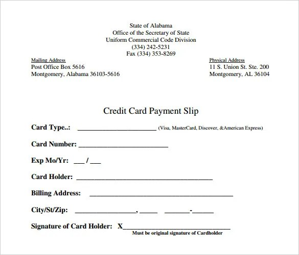 Slip Template \u2013 13+ Free Word, Excel, PDF Documents Download! Free - payment slip format in word
