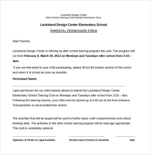 sample permission slips for students - Josemulinohouse - permission slip template