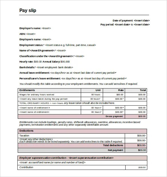 salary slip format in word - Maggilocustdesign