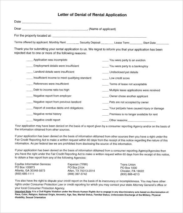 Apartment Application Sample Standard Apartment Rental Application