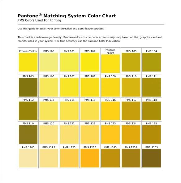Pantone Color Chart Template - 7+ Free Word, Excel, PDF Documents - sample pantone color chart