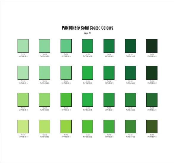 6+ Pantone Color Chart Templates - DOC, PDF Free  Premium Templates