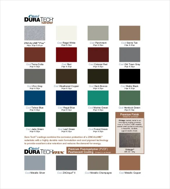 ... Sample General Color Chart General Finishes Color Chart Template   Color  Chart Template ...