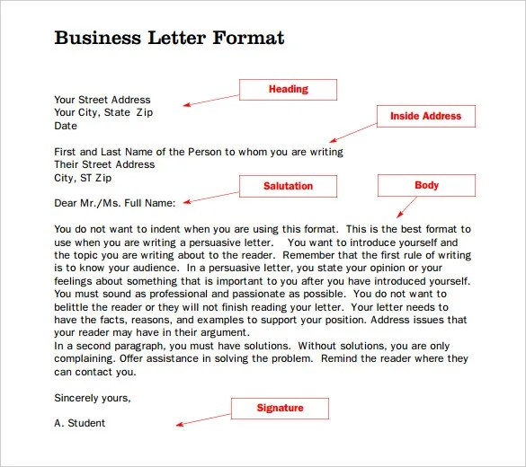 Formal Letter Template - 30+ Free Word, PDF Documents Download - sample formal letter