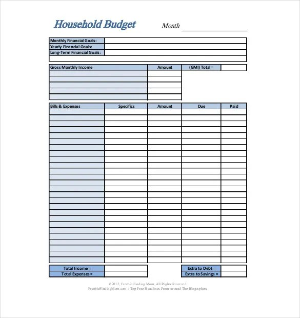 10+ Personal Budget Templates  2013 Free Sample, Example, Format - sample budget template