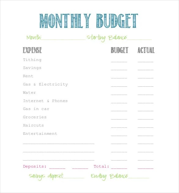 Simple Budget Template - 9+ Free Word, Excel, PDF Documents Download
