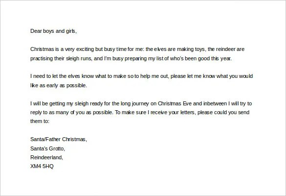 Christmas Letter Template \u2013 9+ Free Word, PDF Documents Download - microsoft word christmas letter template