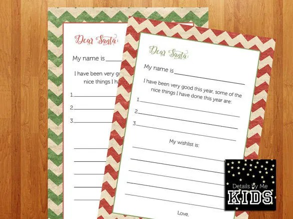Christmas Letter Template \u2013 9+ Free Word, PDF Documents Download - christmas wishlist template