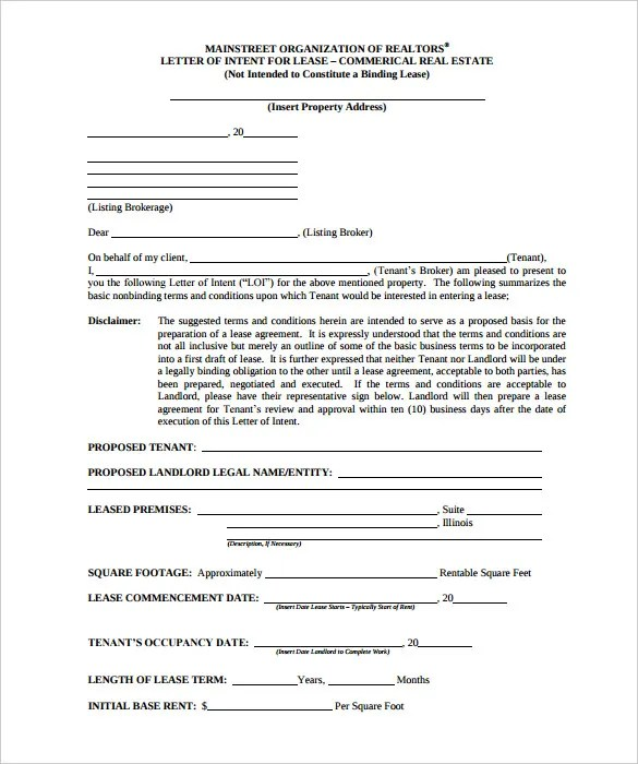 Free Intent Letter Templates - 18+ Free Word, PDF Documents Download