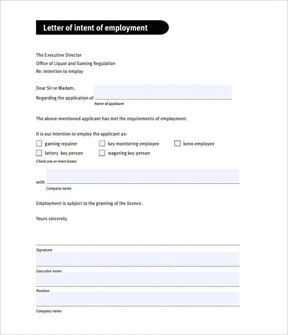 Letter Of Intent Not To Renew Employment Contract Sample  End Of