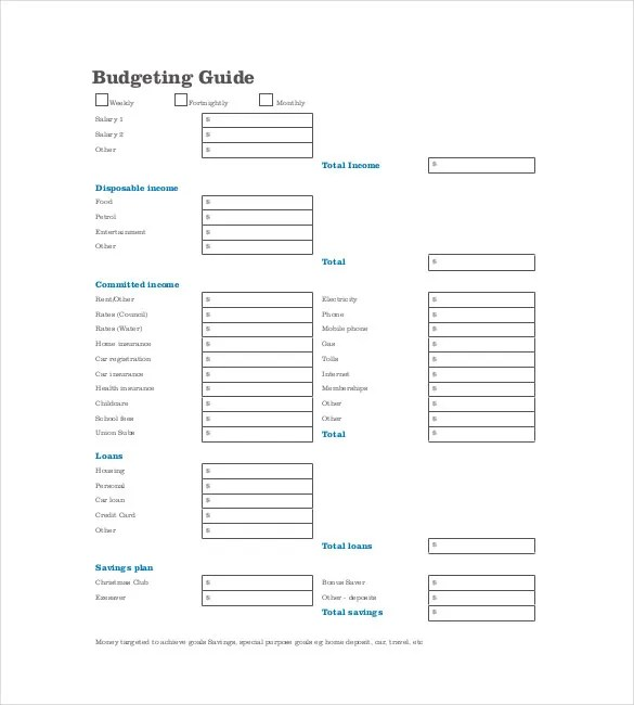 13+ Budget Planner Templates - Free Sample, Example, Format Download - sample weekly budget