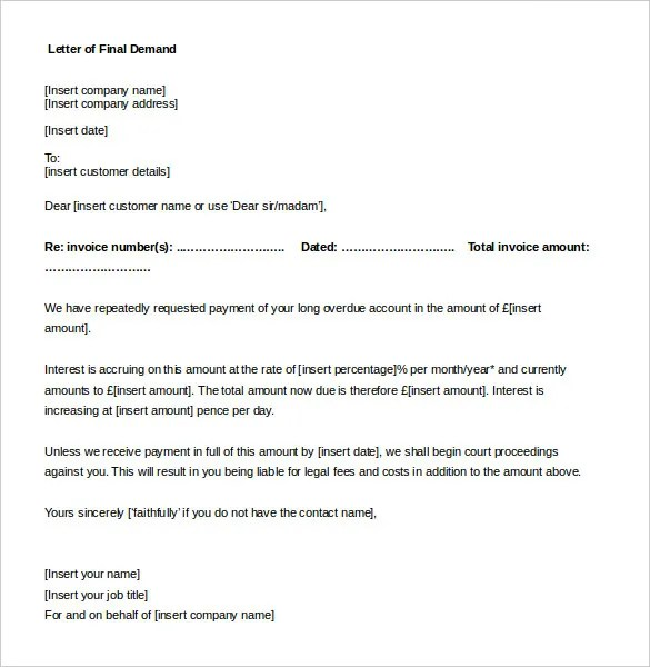 free sample demand letter for payment - Deanroutechoice - sample demand letters